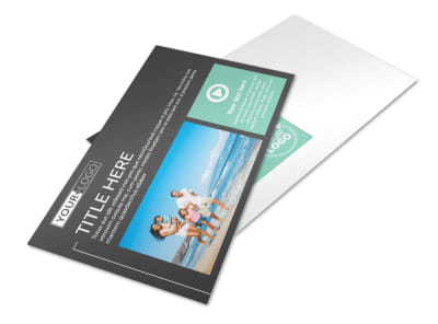 Guided Vacations Postcard Template