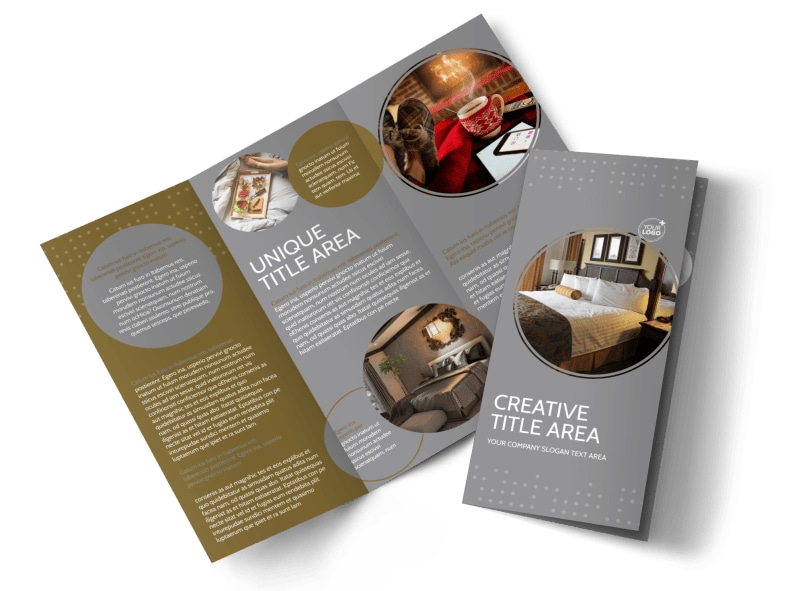 Elegant Bed & Breakfast Tri-Fold Brochure Template