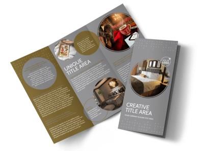 Elegant Bed & Breakfast Tri-Fold Brochure Template preview
