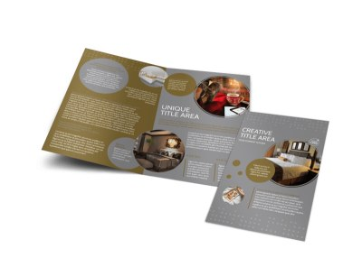 Elegant Bed & Breakfast Bi-Fold Brochure Template