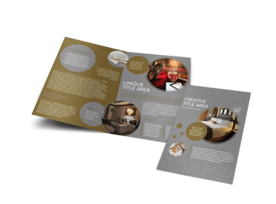 Elegant Bed & Breakfast Bi-Fold Brochure Template preview