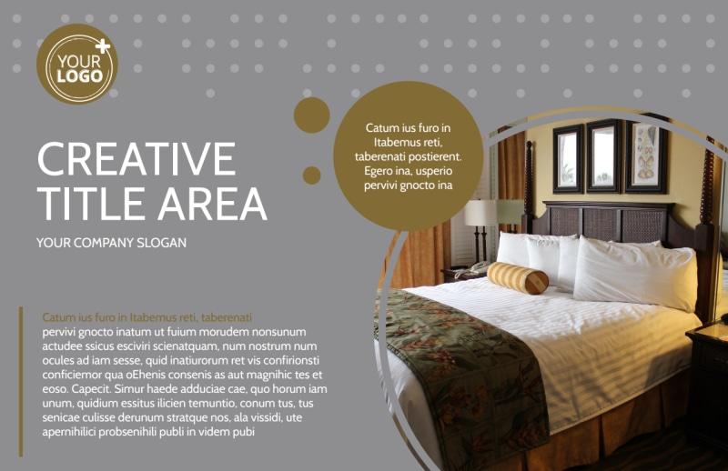 Elegant Bed & Breakfast Postcard Template Preview 2