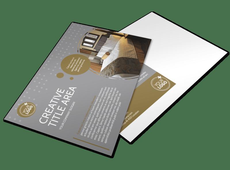 Elegant Bed & Breakfast Postcard Template Preview 1