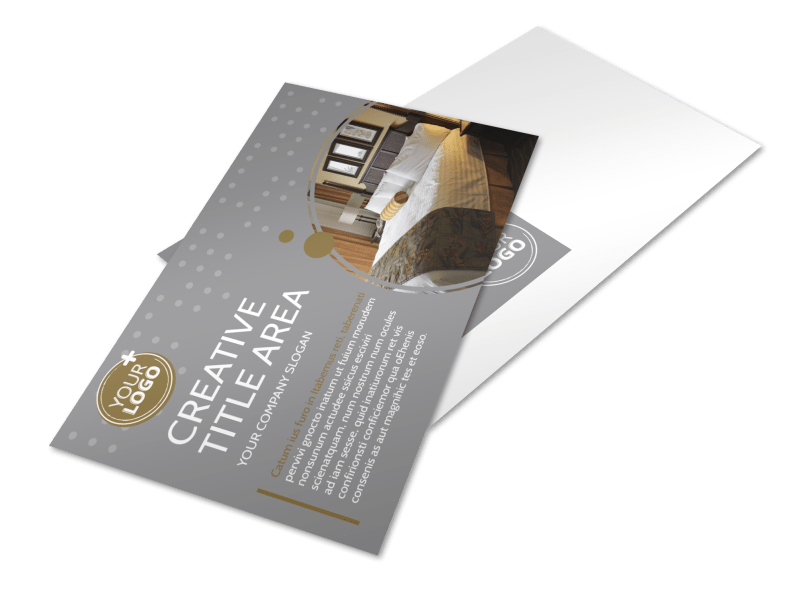 Elegant Bed & Breakfast Postcard Template Preview 1