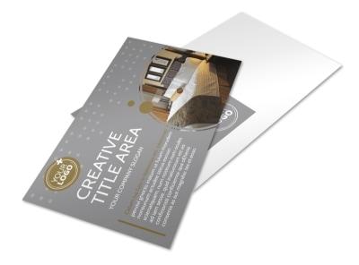Elegant Bed & Breakfast Postcard Template preview