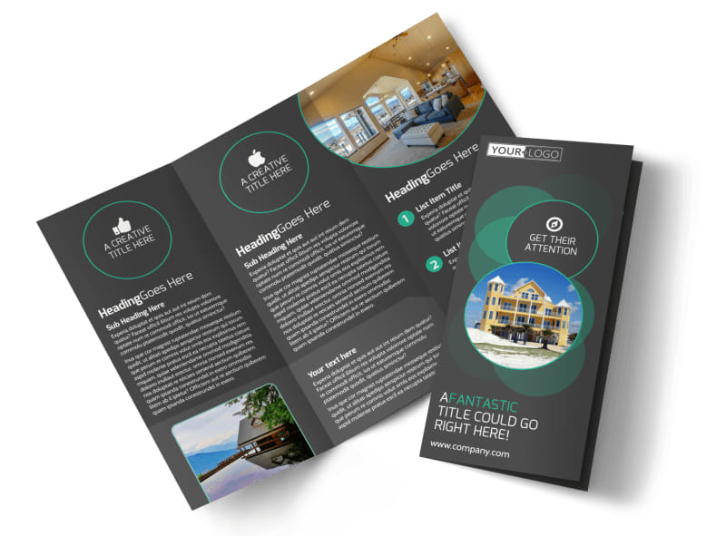 Vacation Home Rental Tri-Fold Brochure Template
