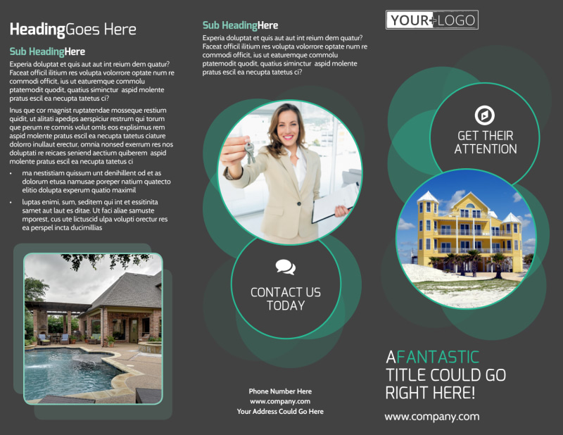 Vacation Home Rental Brochure Template Preview 2