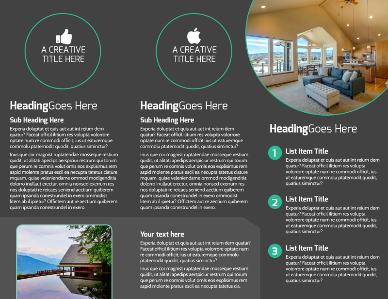 Vacation Home Rental Brochure Template Preview 3