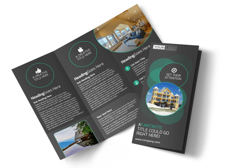 Vacation Home Rental Brochure Template Preview 1