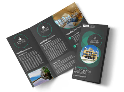 Vacation Home Rental Tri-Fold Brochure Template preview