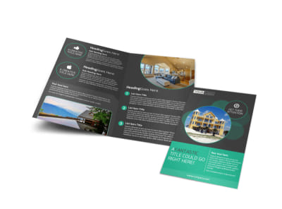 Vacation Home Rental Bi-Fold Brochure Template preview
