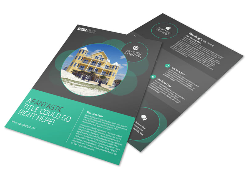 Vacation Home Rental Flyer Template  Mycreativeshop