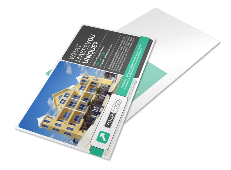 Vacation Home Rental Postcard Template