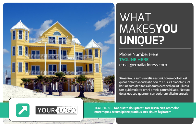 Vacation Home Rental Postcard Template Preview 2