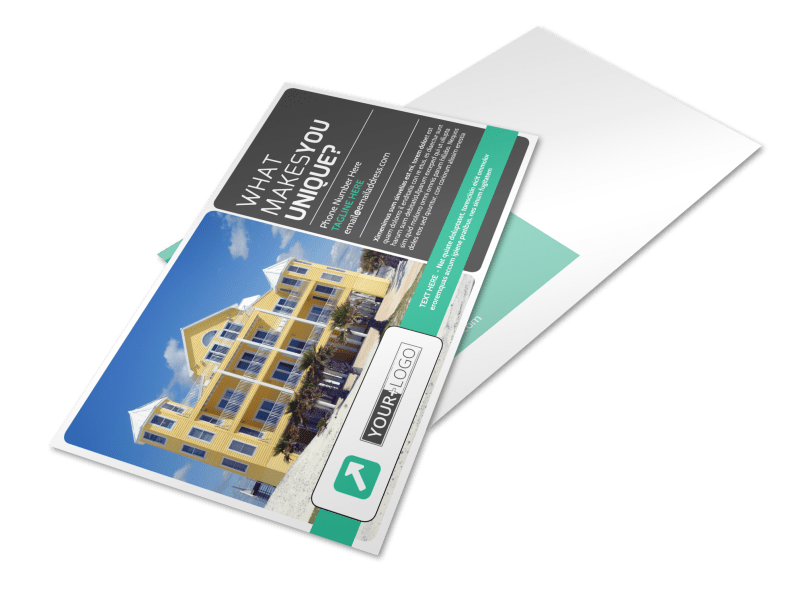 Vacation Home Rental Postcard Template Preview 1