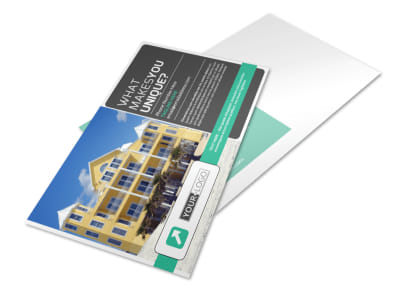 Vacation Home Rental Postcard Template preview