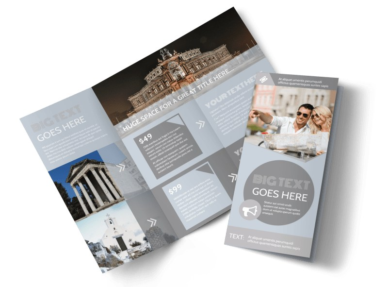 European Guided Vacations Tri-Fold Brochure Template