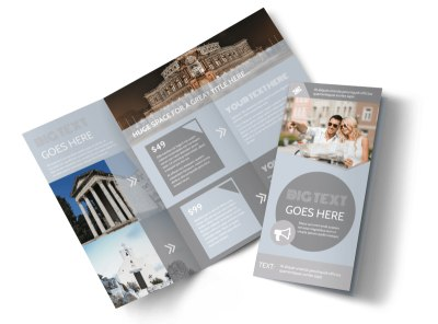 European Guided Vacations Tri-Fold Brochure Template preview