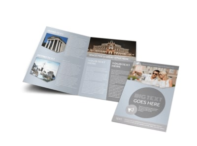 European Guided Vacations Bi-Fold Brochure Template