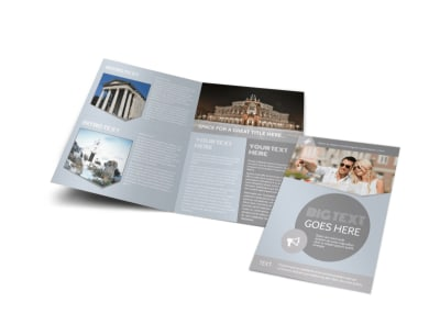 European Guided Vacations Bi-Fold Brochure Template preview