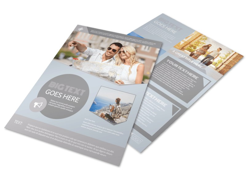European Guided Vacations Flyer Template