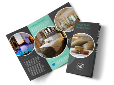 Hotel & Lodging Tri-Fold Brochure Template preview