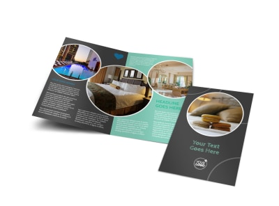 Hotel & Lodging Bi-Fold Brochure Template