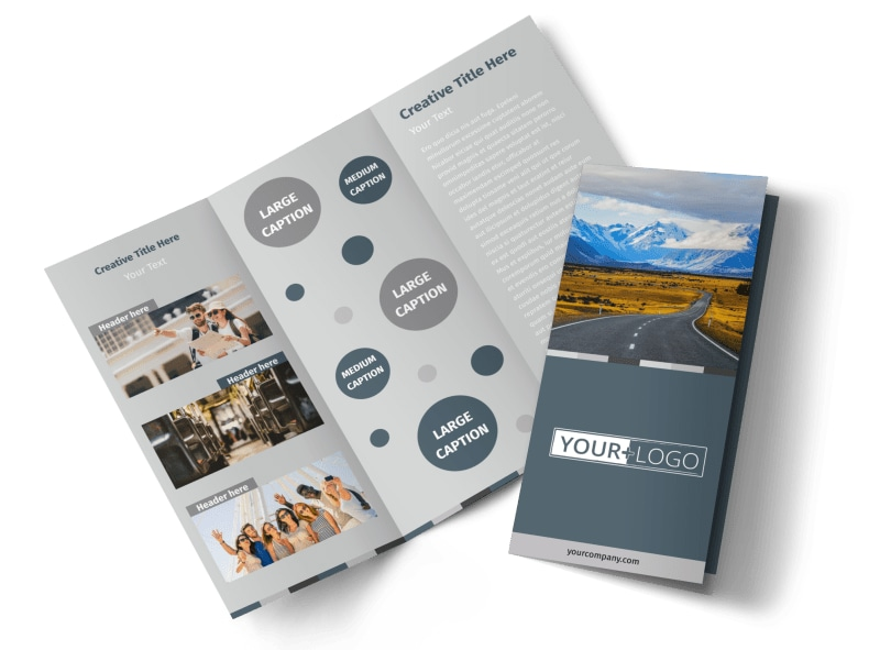 Bus Tours Tri-Fold Brochure Template