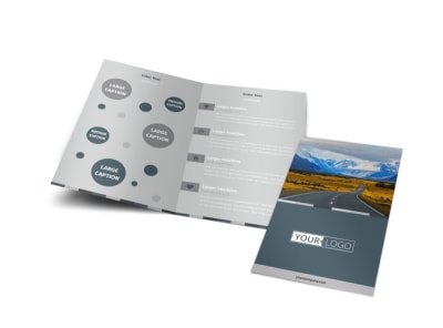 Bus Tours Bi-Fold Brochure Template