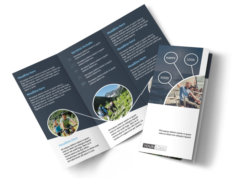 Adventure Guided Tours Tri-Fold Brochure Template