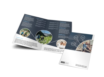 Adventure Guided Tours Bi-Fold Brochure Template preview