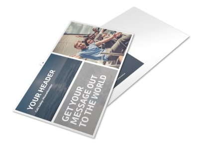 Adventure Guided Tours Postcard Template preview