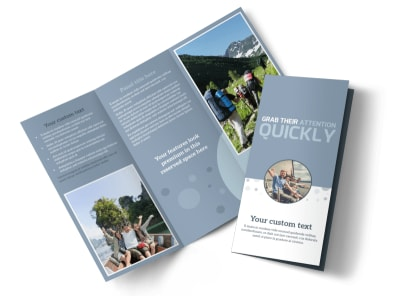 Family Friendly Travel Tours Tri-Fold Brochure Template preview