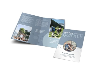 Family Friendly Travel Tours Bi-Fold Brochure Template preview