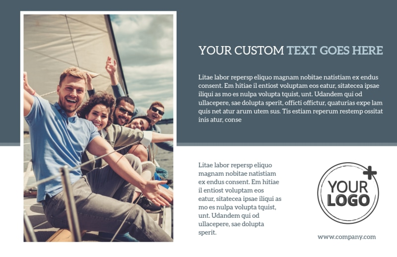 Family Friendly Travel Tours Postcard Template Preview 2