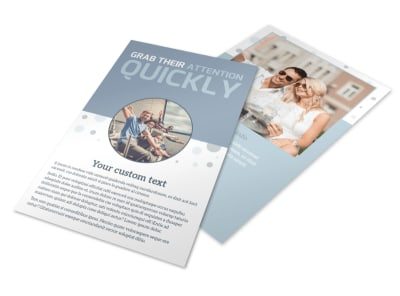 Family Friendly Travel Tours Flyer Template