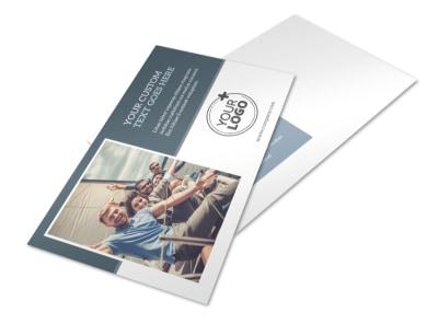 Family Friendly Travel Tours Postcard Template