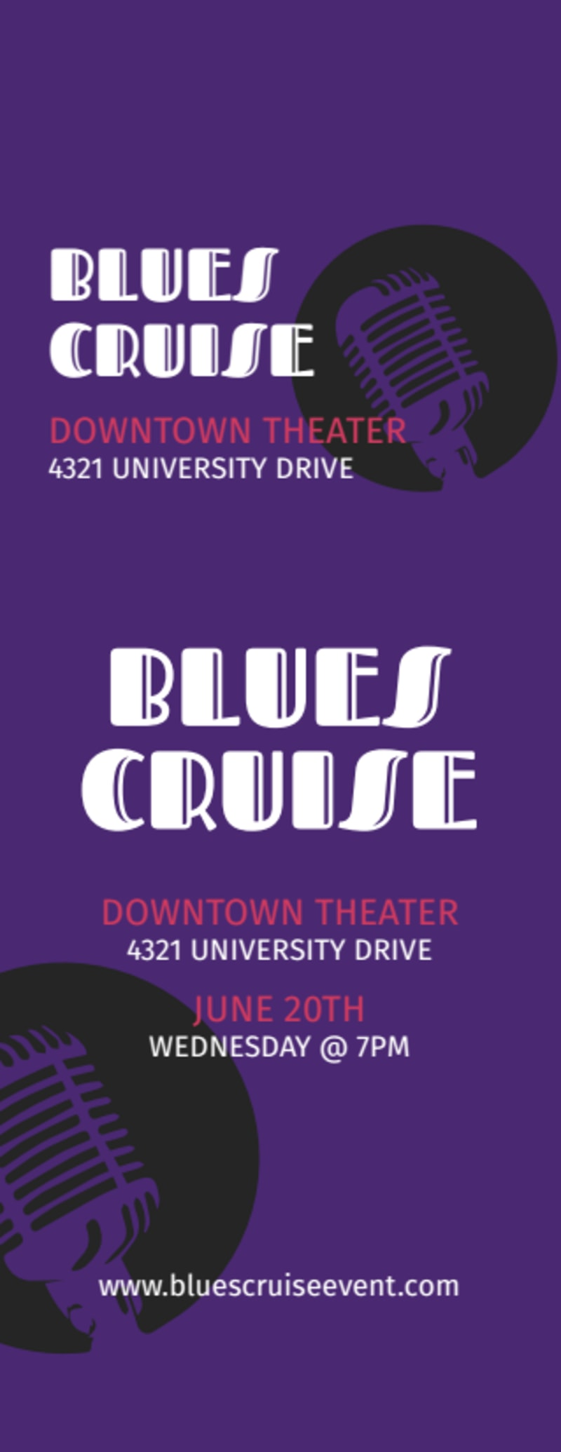 Blues Cruise Ticket Template Preview 2