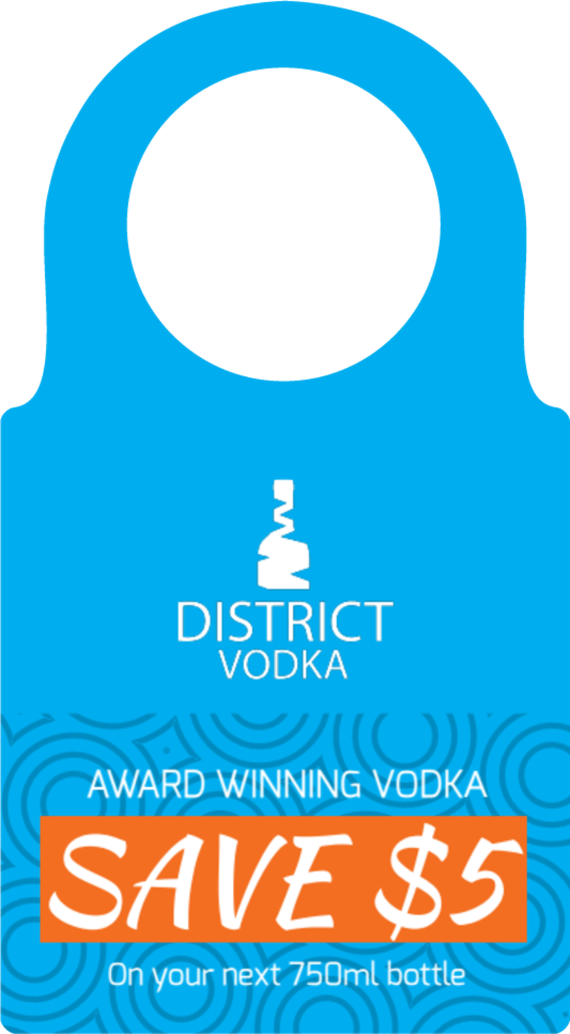 District Vodka Bottle Tag Template Preview 2