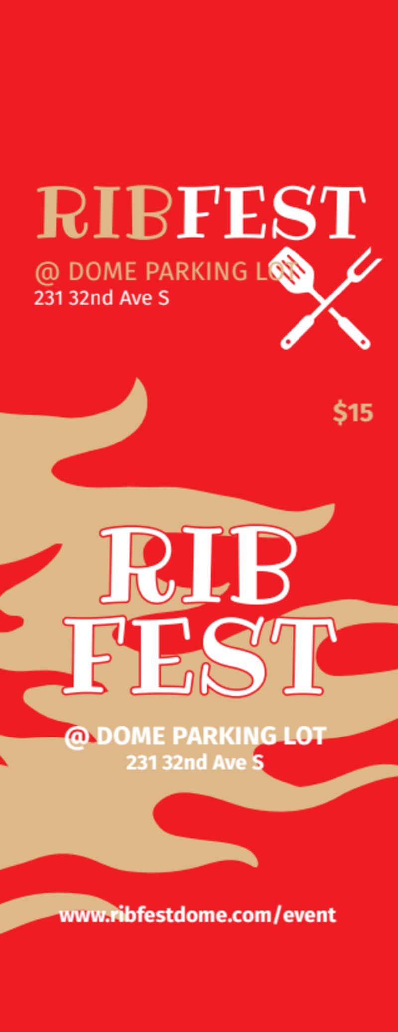 Rib Fest Ticket Template Preview 2