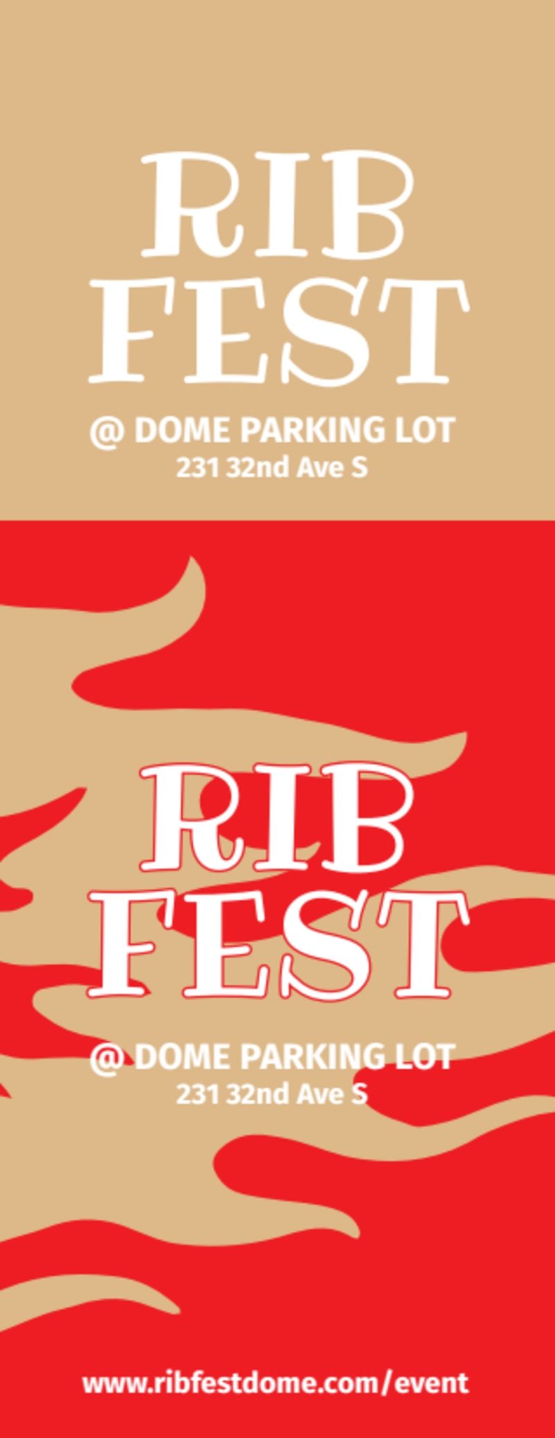 Rib Fest Ticket Template Preview 3