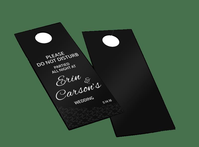 All Night Wedding Party Door Hanger Template Preview 1