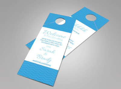 Welcome Wedding Doorhanger Template