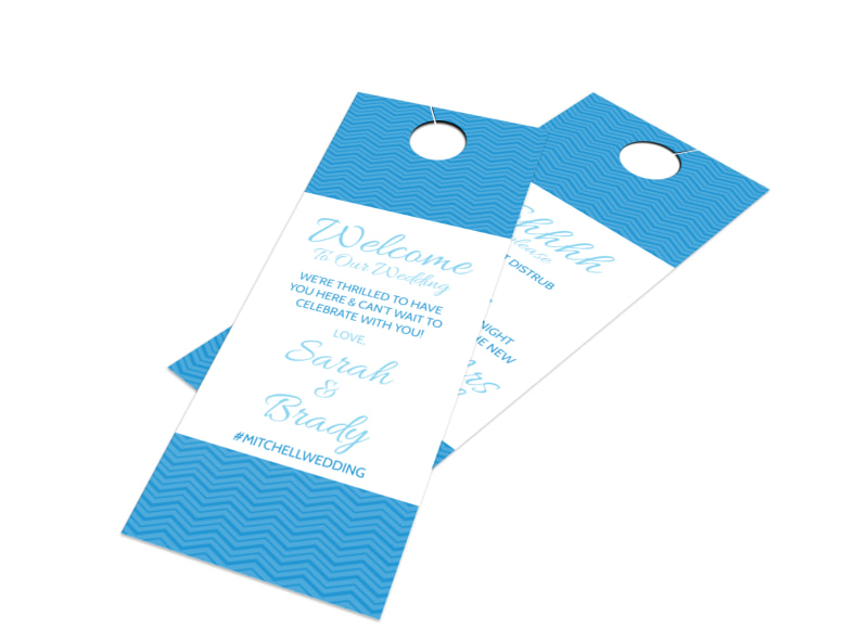 Welcome Wedding Door Hanger Template  Mycreativeshop