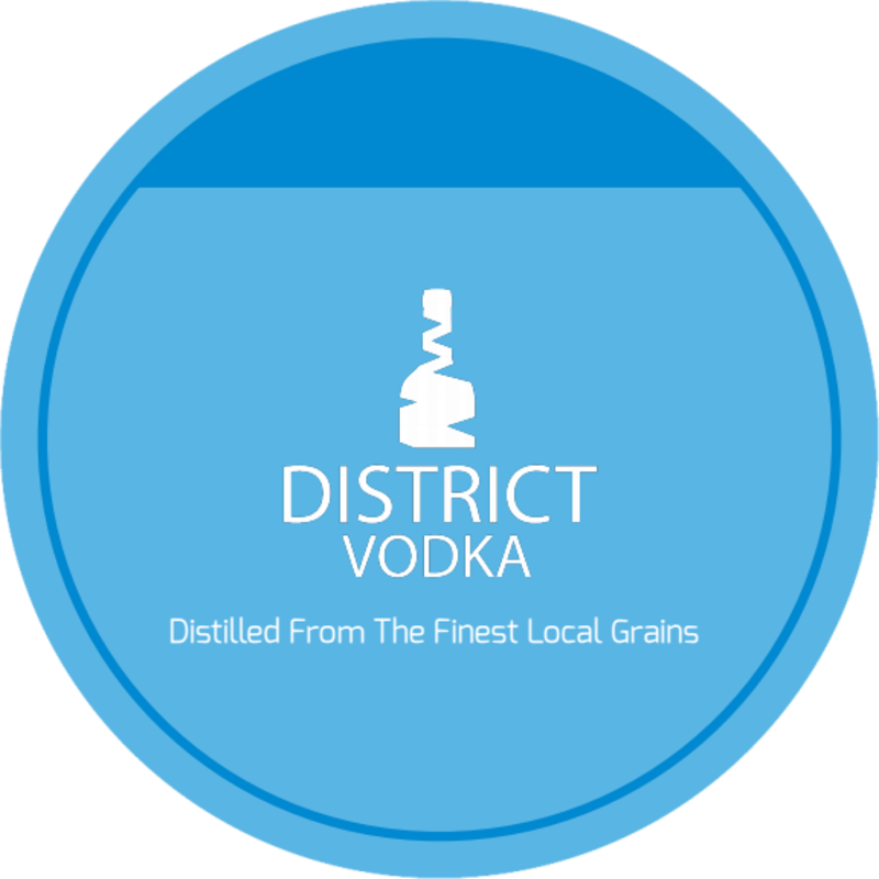 District Vodka Coaster Template Preview 3