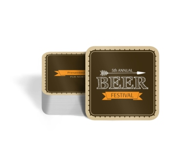 Pub North Beer Festival Square Coaster Template