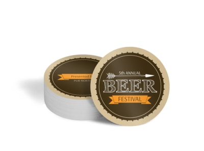 Pub North Beer Festival Circle Coaster Template