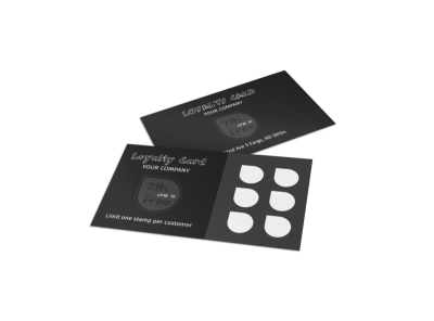 Generic Loyalty Card Template 15910