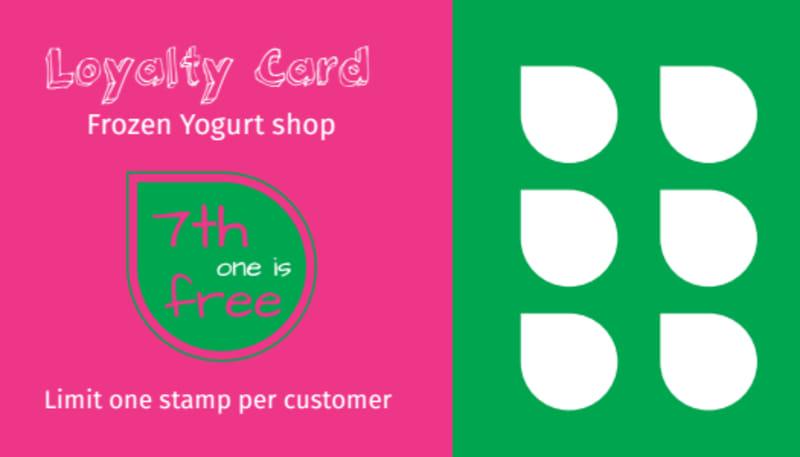 Yogurt Shop Loyalty Card Template Preview 2