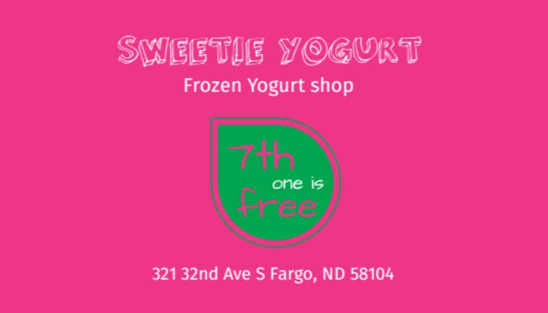 Yogurt Shop Loyalty Card Template Preview 3